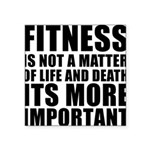 FITNESS-IS-NOT-A-MATTER Square Sticker 3