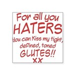 for-all-you-haters Square Sticker 3