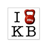 i-heart-kb Square Sticker 3