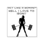 iron Square Sticker 3
