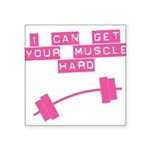 muscle-Hard-droop Square Sticker 3