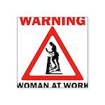 warning Square Sticker 3