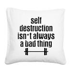 Self Destruction Square Canvas Pillow