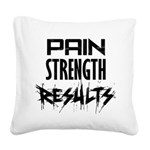 pain-results Square Canvas Pillow