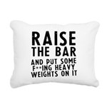 raise-the-bar Rectangular Canvas Pillow