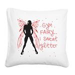 gym-fairy Square Canvas Pillow