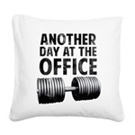 another-day-in-the-office Square Canvas Pillow