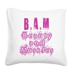 BAM Square Canvas Pillow