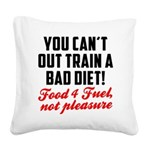 you-cant-out-train-a-bad-diet Square Canvas Pi