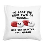 to-loose-fat-moron Square Canvas Pillow