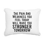stronger-tomorrow Rectangular Canvas Pillow