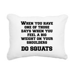do-squats Rectangular Canvas Pillow