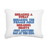 breaking Rectangular Canvas Pillow