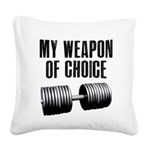 weapon-of-chioce Square Canvas Pillow
