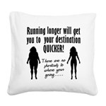 running-longer Square Canvas Pillow