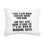 i-love-a-gym Rectangular Canvas Pillow