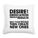 DESIRES-AND-DEDICATION Square Canvas Pillow