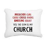 gym-is-my-church Rectangular Canvas Pillow
