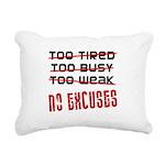 no-excuses Rectangular Canvas Pillow