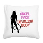 angel-face Square Canvas Pillow