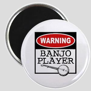 Warning Banjo Player Magnet