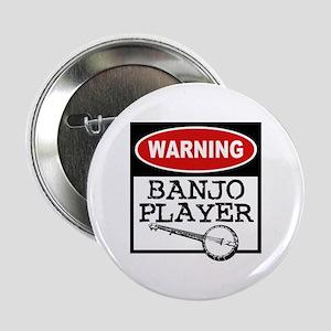 Warning Banjo Player Button