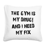 the-gym-b Square Canvas Pillow