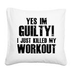workout-b Square Canvas Pillow