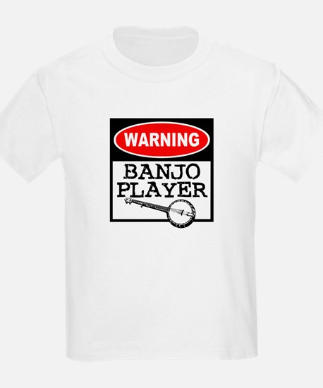 Warning Banjo Player Kids T-Shirt
