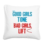 good-bad Square Canvas Pillow