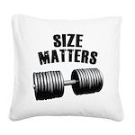 size-matters Square Canvas Pillow