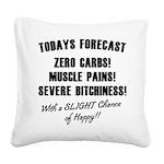 todays Square Canvas Pillow