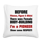 before-ffb Square Canvas Pillow