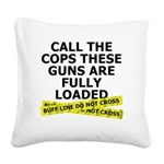 call-the-cops Square Canvas Pillow