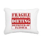 fragile Rectangular Canvas Pillow