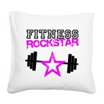 FitnessRockstar Square Canvas Pillow