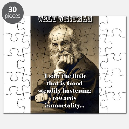 I Saw The Little That Is Good - Whitman Puzzle