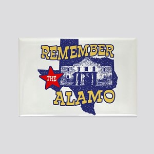 Texas Remember the Alamo Rectangle Magnet