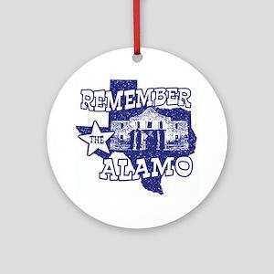 Texas Remember the Alamo Ornament (Round)