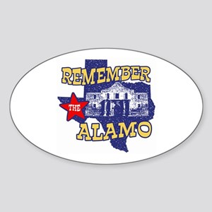 Texas Remember the Alamo Oval Sticker