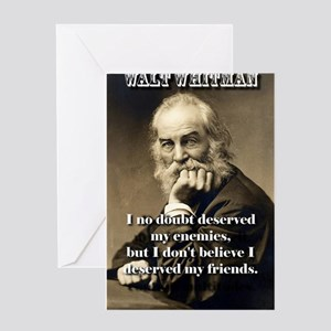 I No Doubt Deserved My Enemies - Whitman Greeting