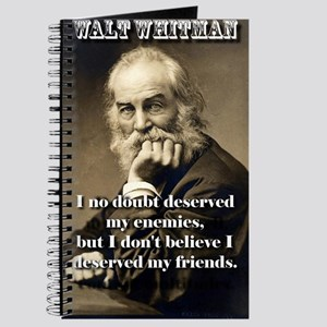 I No Doubt Deserved My Enemies - Whitman Journal