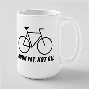 Burn fat, not oil Large Mug