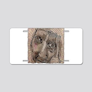 think!! art illustration Aluminum License Plate