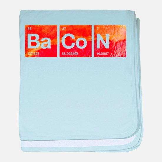 I Love Bacon and a Periodic Table baby blanket