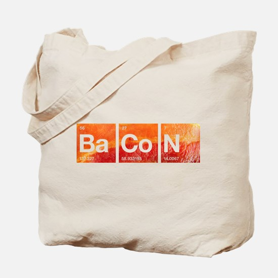 I Love Bacon and a Periodic Table Tote Bag