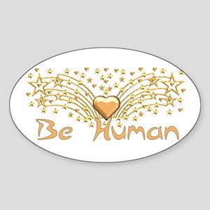 Be Human Oval Sticker