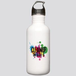 Cleanup on Aisle Five Water Bottle