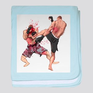 Muay Thai Kick baby blanket