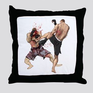 Muay Thai Kick Throw Pillow